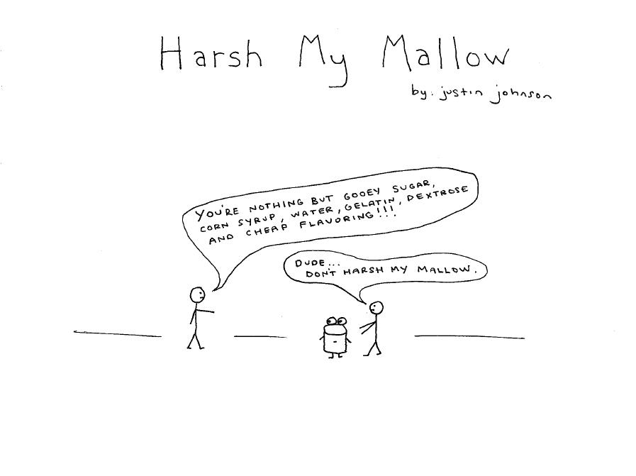 Harsh My Mallow Cartoon