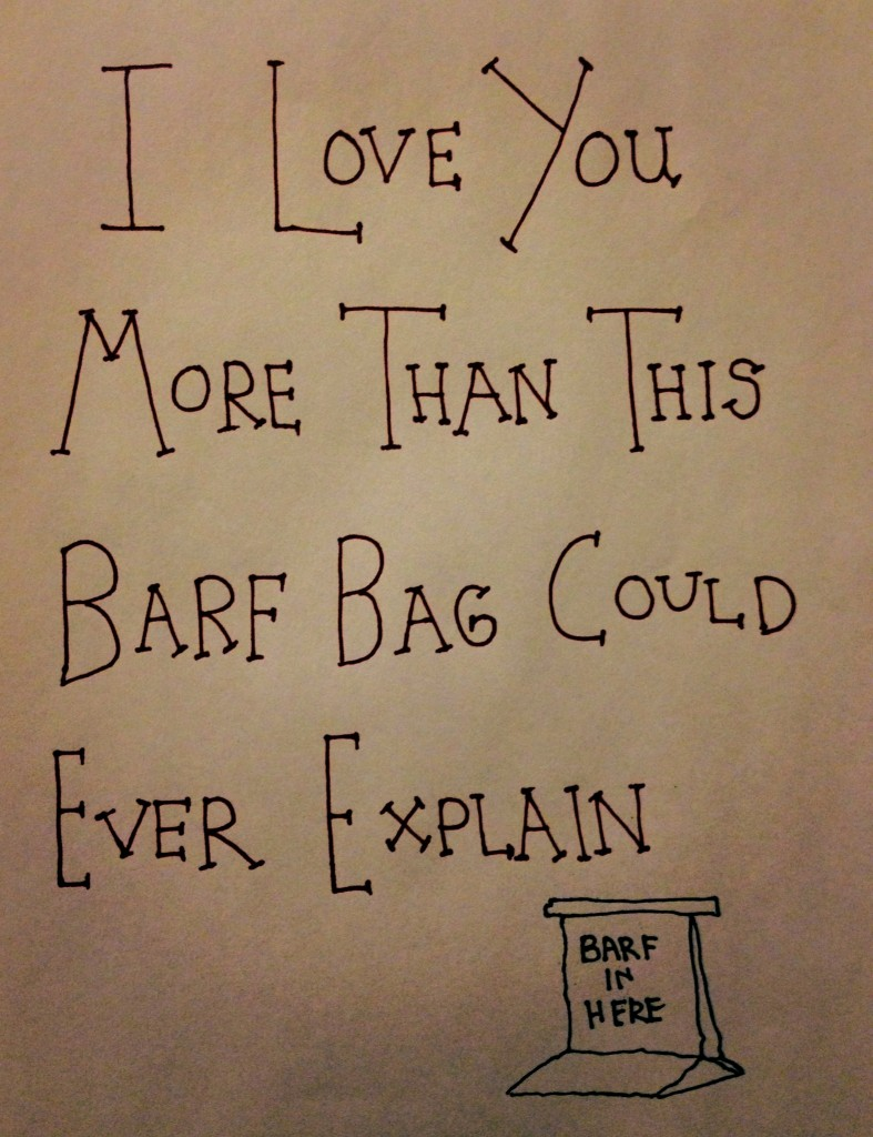 I Love You More Than This Barf Bag Could Ever Explain