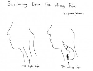 Swallowing Down The Wrong Pipe Cartoon