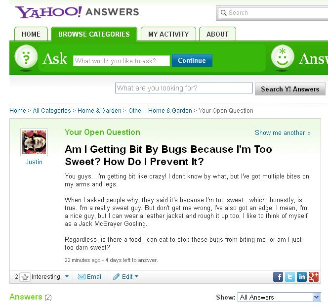 Am I Getting Bit By Bugs Because I'm Too Sweet