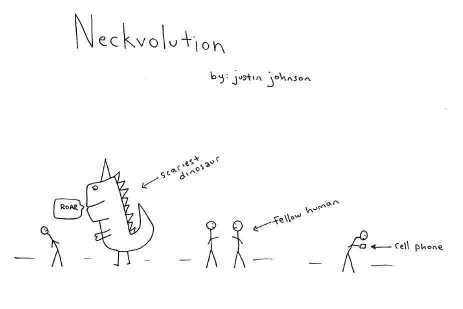 Neckvolution Cartoon by Justin J Johnson