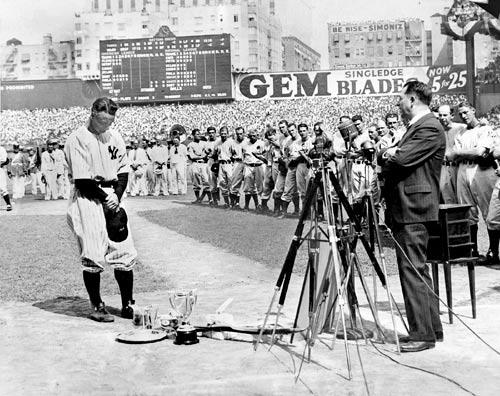 Lou Gehrig Speech - Google Keywords