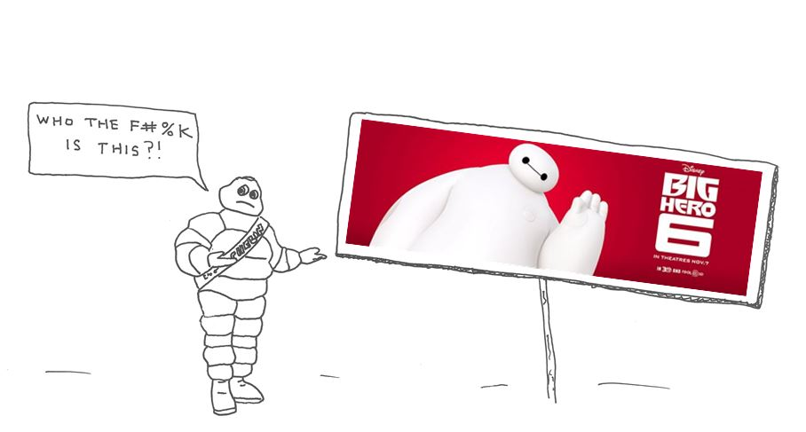 Michelin Man Is Angry At Big Hero 6