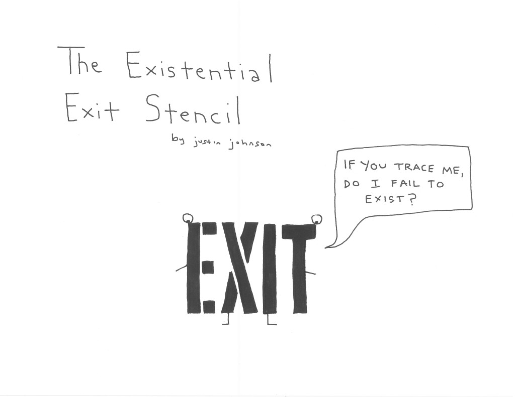 The Existential Exit Stencil Cartoon