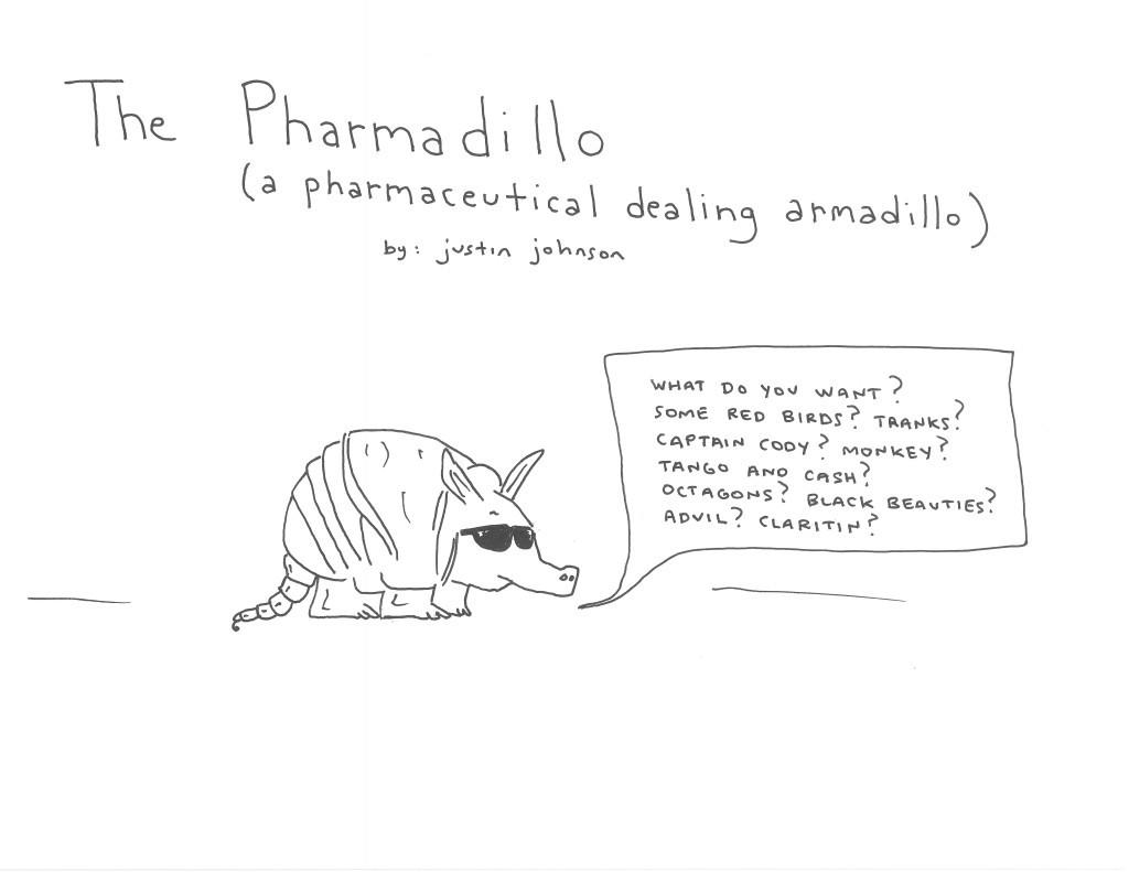 The Pharmadillo Cartoon