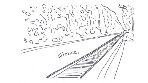 silence on a train track