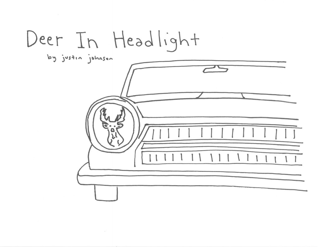 Deer in Headlight Cartoon by Justin J. Johnson