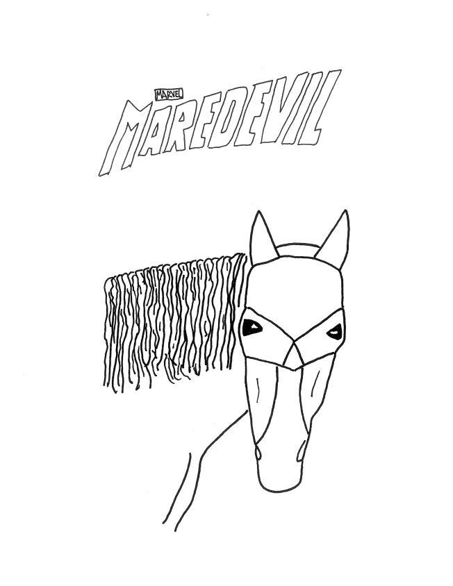 MareDevil Netflix - Horse Daredevil